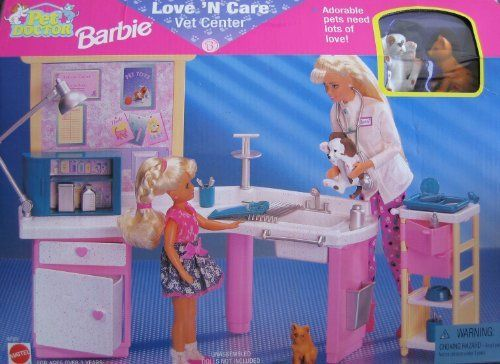Pet Doctor BARBIE Love 'n Care Vet Center Playset (1996 Arcotoys, Mattel) by Arcotoys, Mattel. $54.99