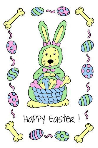 110 best easter by derek l images on pinterest easter eggs crunchkins crunch edible card happy easter edible greeting card for dogs all natural mailing envelope included colors do not run great gift for dog lovers negle Gallery