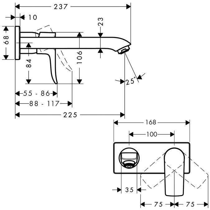 Metris Смесители для раковины: с одним рычагом, хром, Арт. № 31086000