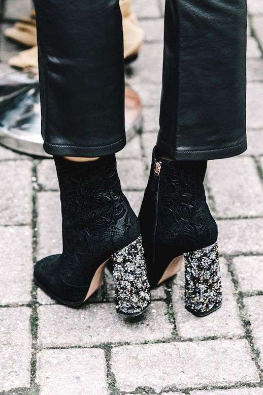 The Coolest Embellished Heel Boots