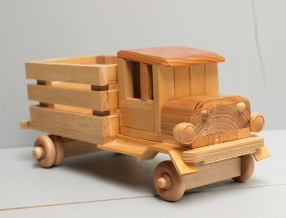 Free wooden toy truck patterns woodworking projects plans for Toy plans