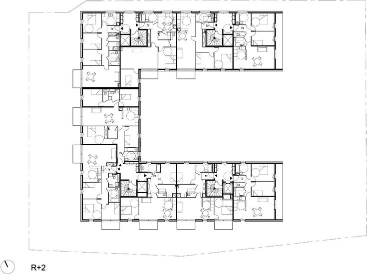 Delightful 34 Social Housing Units In Paris,Plan
