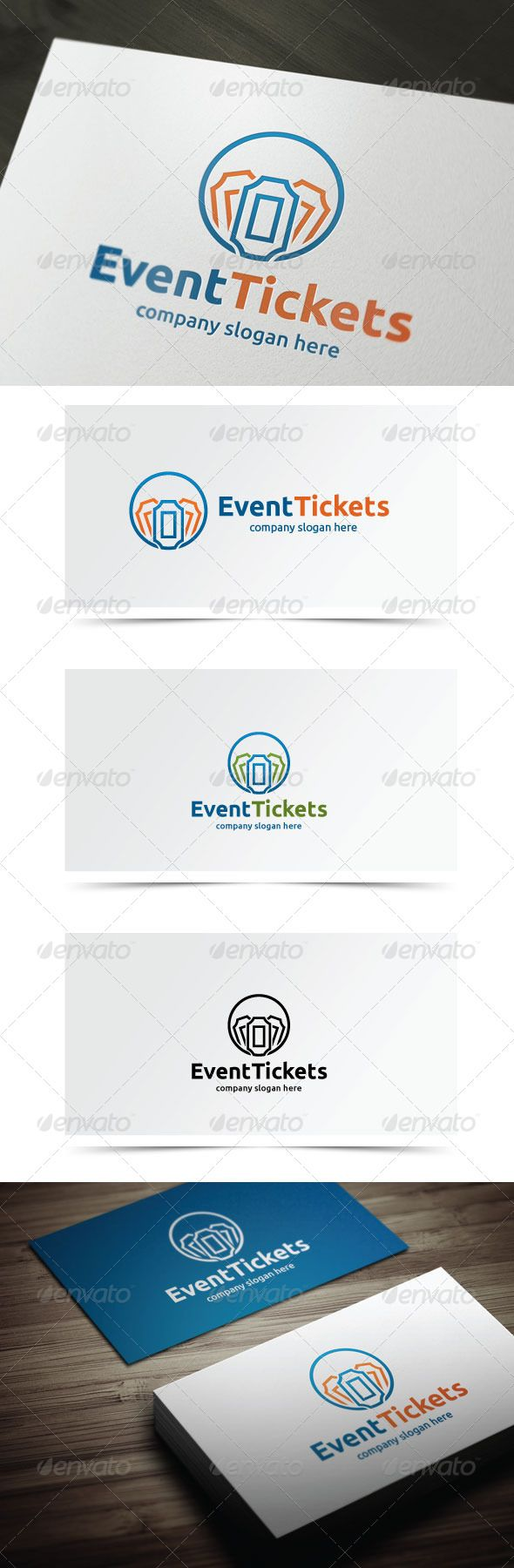 Ticket Logo Template  - Vector logo Resizable for easy editing AI, EPS files  Font Used Ubuntu http://font.ubuntu.com