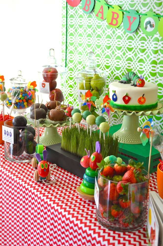 The Very Hungry Caterpillar, by Eric Carle Baby Shower Party Ideas | Photo 14 of 22 | Catch My Party