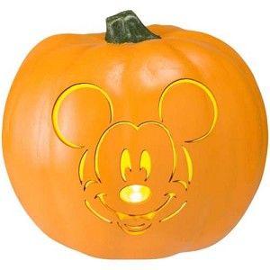 Disney Halloween Decoration - Mickey Mouse - Light Up Pumpkin