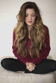 Long Thick Hairstyles Adorable 9 Best Wavy Images On Pinterest  Curly Bob Hair Curly Hair And