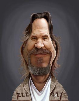 Jeff Bridges by robart at zippi.co.uk art | decor | wall art | inspiration | caricature | home decor | idea | humor | gifts