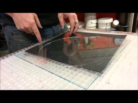 how to cut a circle in laminated glass