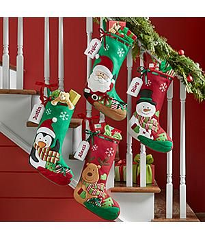 PERSONALIZED CHRISTMAS STOCKINGS *New*– Holiday Presents Stocking Your little ones will be begging to put up these cuddly stockings long before the holidays arrive! Darling embroidered faces, satin ribbon and cloth nametags make a unique look. http://kittykatkoutique.com/new-personalized-christmas-stockings-2015/