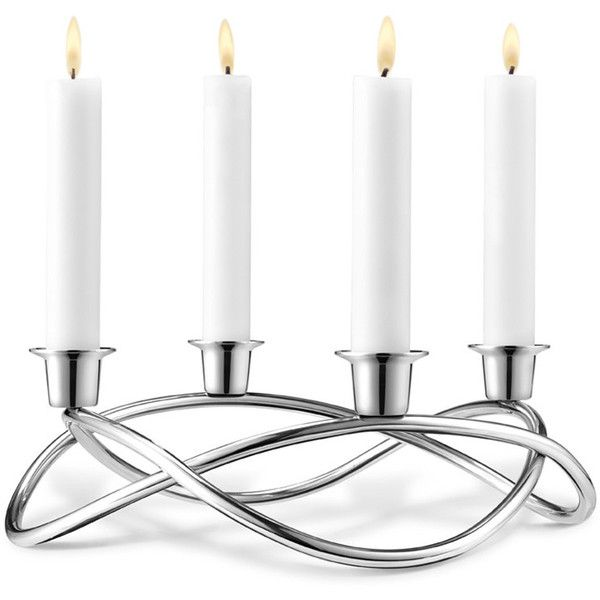 Georg Jensen Season Candle Holder - Mirror ($97) ❤ liked on Polyvore featuring home, home decor, candles & candleholders, metallic, georg jensen, georg jensen candleholder, georg jensen candle holder and stainless steel tapers