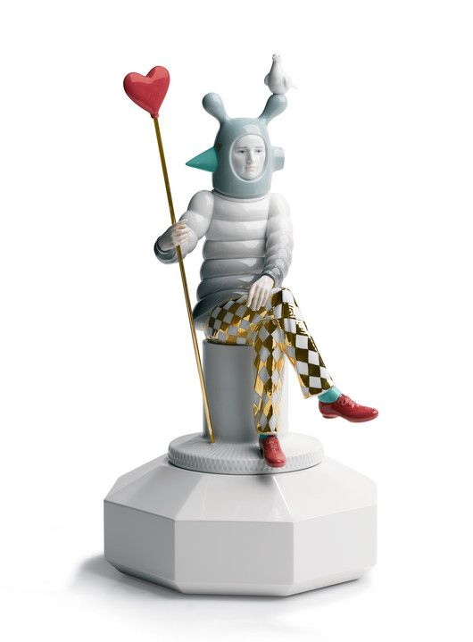 Jaime Hayon para Lladró: Lladro Harlequin, Hayon Studios, Porcelain Figs, Jaime Hayon, Hayon Para, Ceramics Adorable, Ceramic Porcelain, Clowns Pierrots Harlequins, Para Lladro