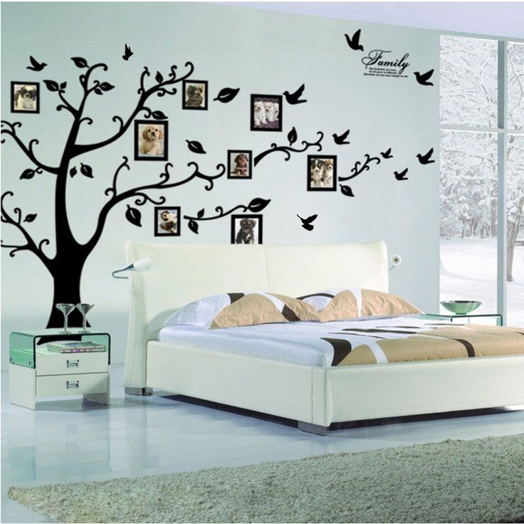 Free Shipping:Large 200*250Cm/79*99in Black 3D DIY Photo Tree PVC Wall Decals/Adhesive Family Wall Stickers Mural Art Home Decor ** Find similar products by clicking the VISIT button