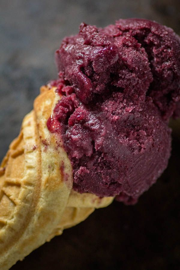 Paleo Waffle Cones with Mixed Berry Sorbet from Paleo Patisserie #paleo #grainfree #glutenfree