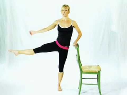 "Jennee' McCormick is the creator and instructor of the Ballet Barre Workout. This is older than her Ballet Blast DVD and has a workout focused more on using a ""barre"". This video shows how you can do my Ballet Barre Workout using a regular chair instead of an actual barre. Purchase DVD at: http://www.balletbarreworkout.com/order.php"