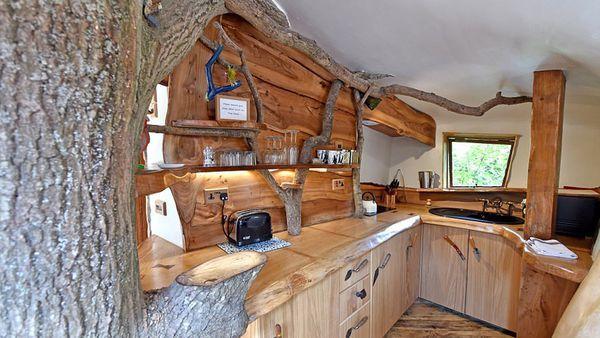 La casa, a pesar de estar construida entre árboles, posee todas las comodidades como electricidad, sala de juegos, entre otras