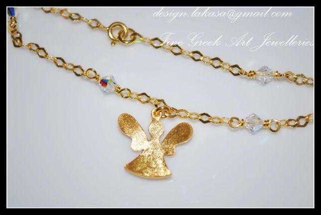 angel_αγγελάκι_βραχιόλι_ασημένιο _925_silver_bracelet_jewellery_frog_gold-plated_lakasa_e-shop