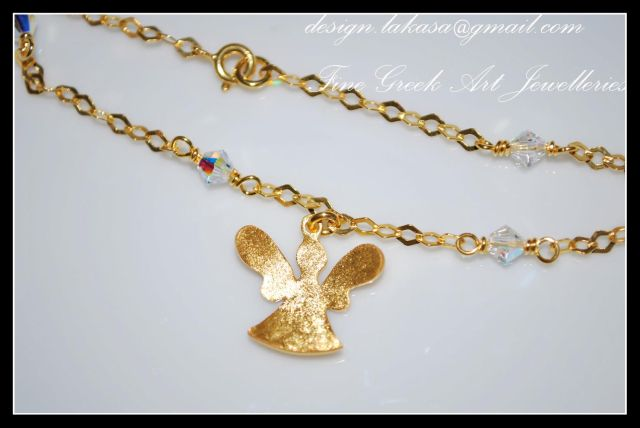 angel_αγγελάκι_βραχιόλι_ασημένιο _925_silver_bracelet_jewellery_frog_gold-plated_lakasa_e-shop