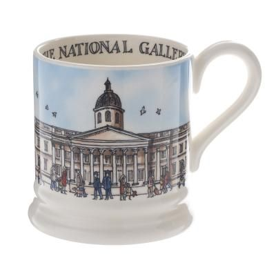 National Gallery Mug by Emma Bridgewater. This mug has been made exclusively for the National Gallery by Emma Bridgewater. It is made from English earthenware and decorated using hand-cut sponges.