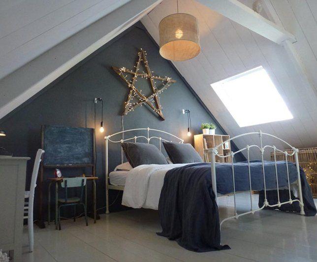 Ambiance champêtre et romantique dans la chambre // http://www.deco.fr/photo-deco/decoration-parquet_ambiance-champetre-romantique-coloree/