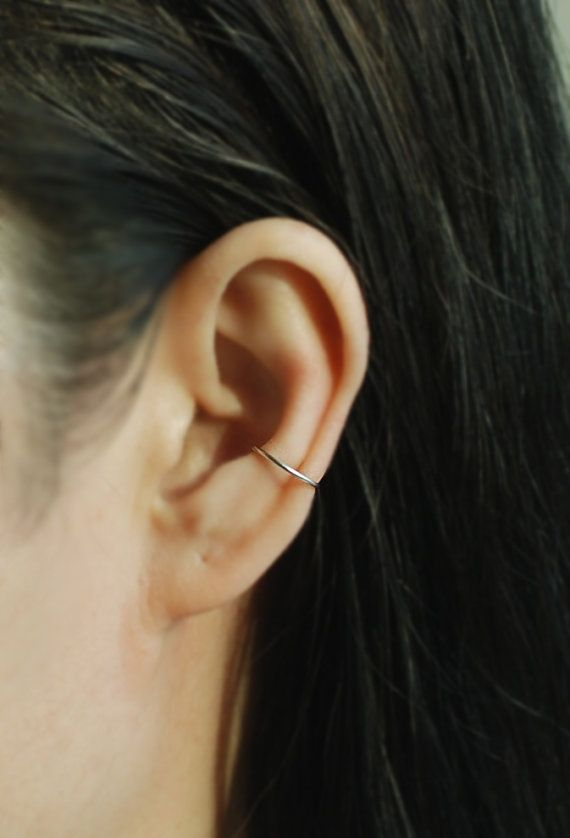 Fake Conch Piercing Ear Cuff ,Cartilage Earrings, Fake Body Piercing, Ear cuff, Ear Jacket, Ear