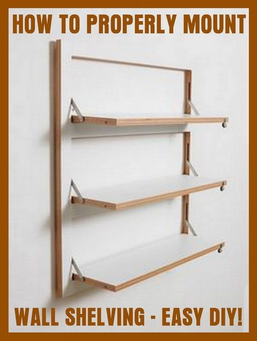 How To Mount A Wall Shelf