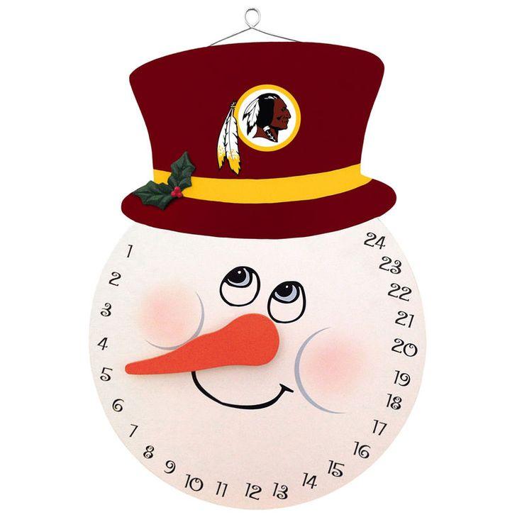 "Washington Redskins 10"" Snowman Countdown Calendar"