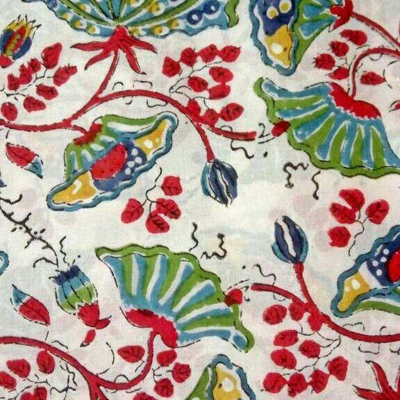 Hand block #cotton fabric # jaipuri cotton #floral fabric #vegetable die #soft fabric #cool handblock color # summer fabric # colorful designer fabric # soft vegetable fabric