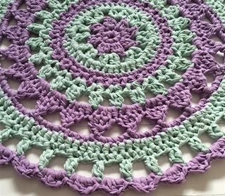 Hoooked: MANDALA STYLE ISLAND RUG - free crochet pattern to download by MaritParit. 10mm hook.