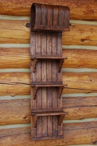 old snow sled shelf
