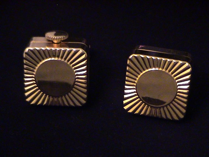 Vintage Swiss LADOR-DERBY Music Box Cufflinks. My dad had these.