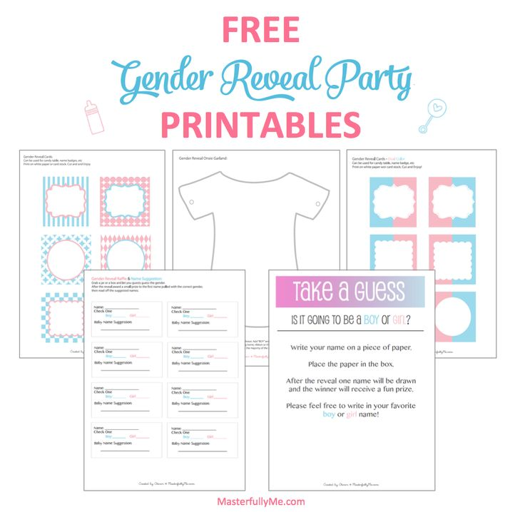 free gender reveal party printable - Free Printable Gender Reveal Party Invitations