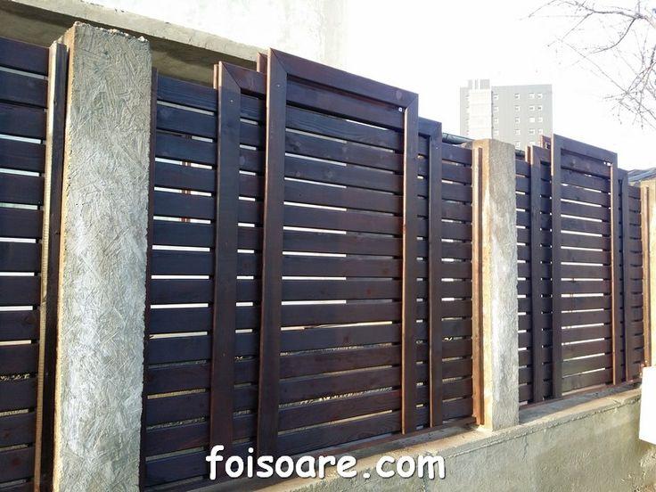 panouri garduri de lemn cu lamele orizontale