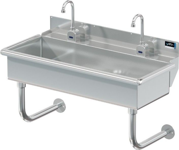 Blanco 2 Station X 40 W Deck Mt Electronic Faucets Sink
