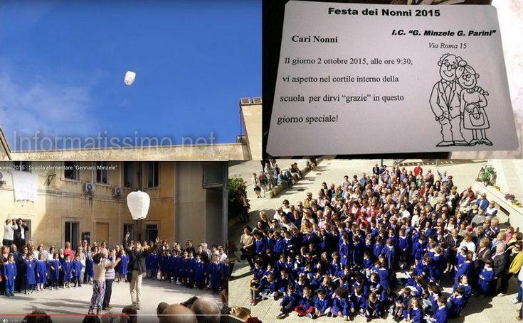 La toccante cerimonia delle lanterne organizzata dal Comprensivo Minzele-Parini di Putignano in occasione della festa dei Nonni 2015