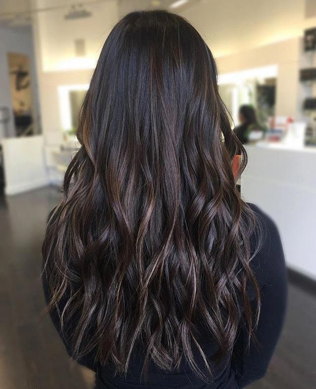 Beautiful Black Straight Balayage Blackstraightbalayage Brunette Hair Color Hair Styles Baliage Hair