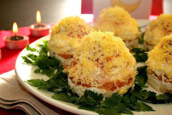 Порционные салаты рецепты с фото