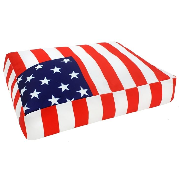 Divine Designs Handmade Small American Flag Dog Bed