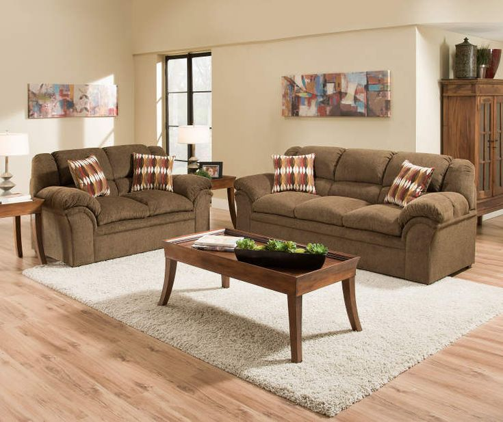 I Found A Simmons Verona Chocolate Chenille Living Room Furniture  Collection At Big Lots For Less Part 56