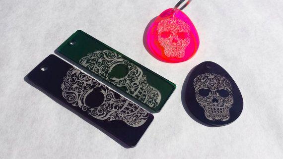 Sugar Skull Keyring by PipperilloStudios on Etsy