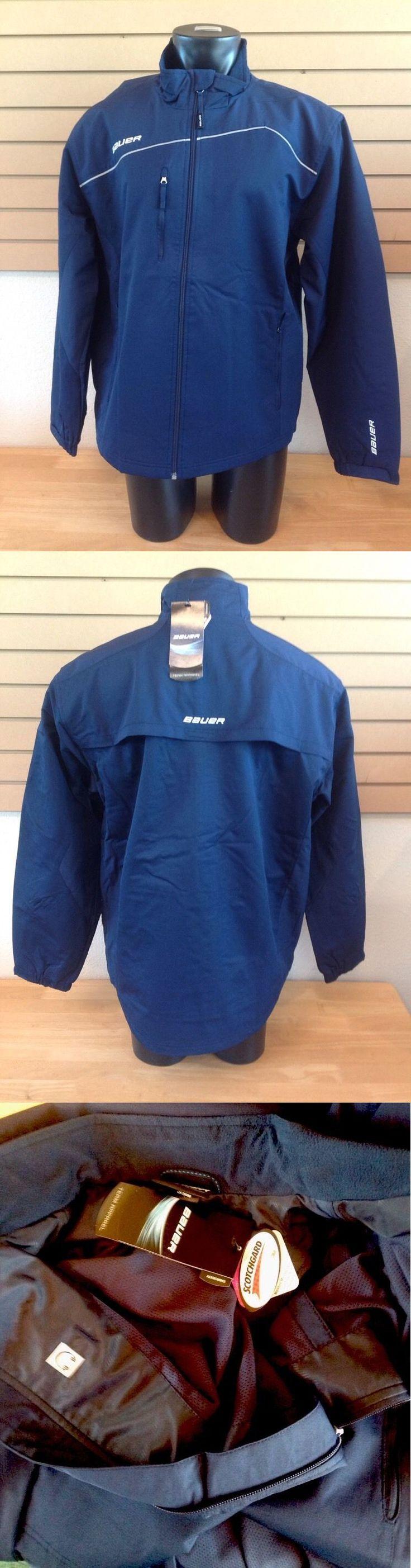 Men 159122: Bauer Hockey Navy Lightweight Warmup Jacket Size Senior Adult -> BUY IT NOW ONLY: $45 on eBay!
