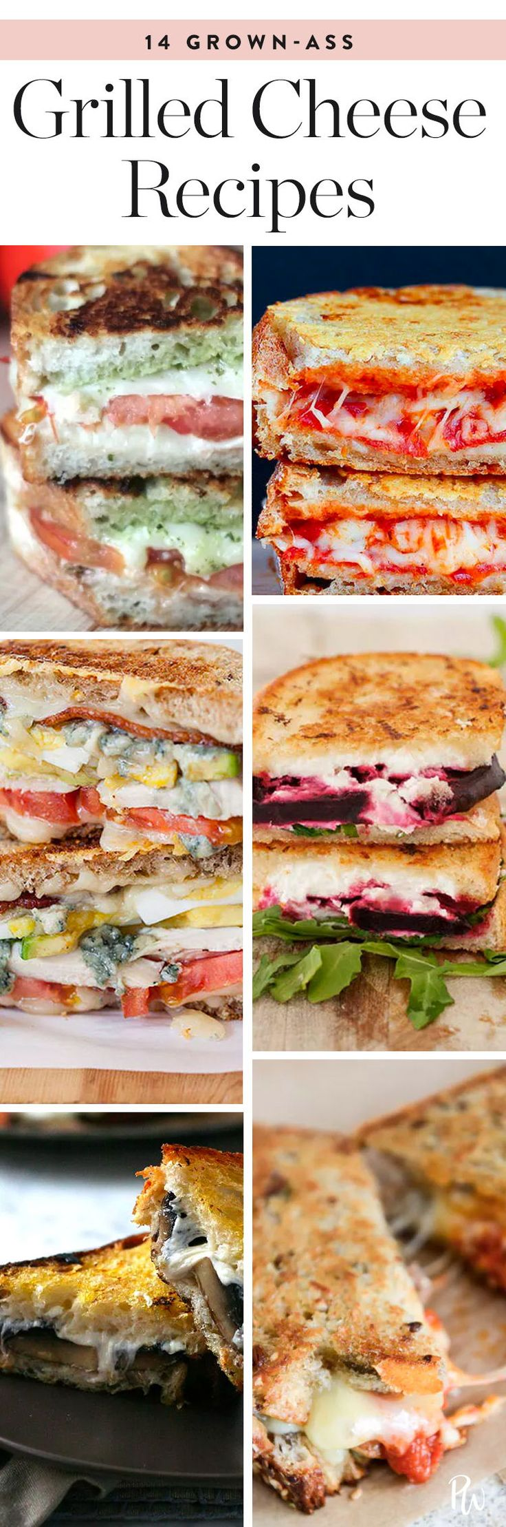 15 Grown-Ass Grilled Cheese Recipes #purewow #cheese #grilledcheese #comfortfood #recipes