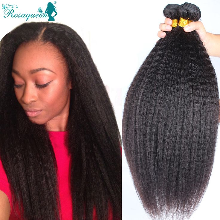 Online Shop Kinky Straight Hair 7A Mink Brazilian Hair Weave Bundles Yaki Straight Human Hair Extensions Brazilian Virgin Hair Coarse Yaki | Aliexpress Mobile