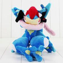 33.5 cm lindo Greninja felpa muñeca de dibujos animados juguetes de peluche muñeca de peluche juguete juguete Del Anime Japonés Caliente envío gratis buen regalo para niños(China)