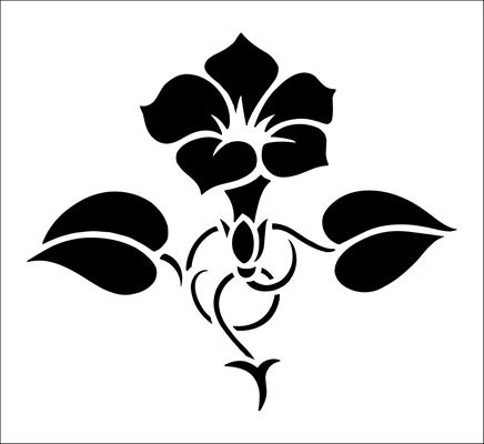 Convolvulous Solo stencil from The Stencil Library BUDGET STENCILS range. Buy stencils online. Stencil code CS22.