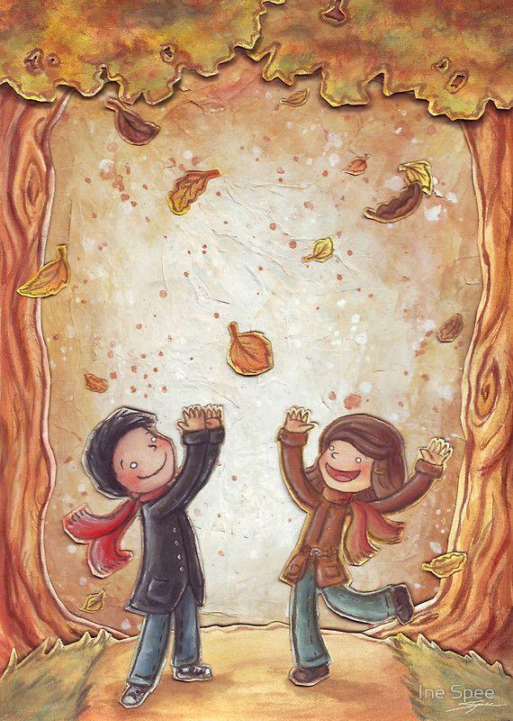 Otoño de Ana María Romero Yebra .Il.lustració Ine Spee  | Poesia infantil a l'escola