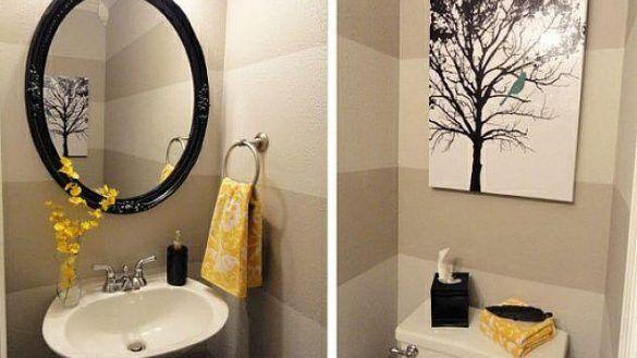 Bathroom Minimalist Bathroom Decorating Ideas For Small Bathrooms At Half From Half Bathroom Decorating I Half Bathroom Decor Half Bath Decor Yellow Bathrooms