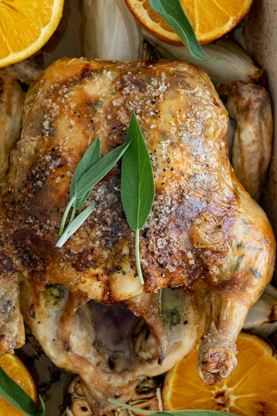 Sage Orange Christmas Chicken Simply Delicious Recipe Chicken Recipes Roast Chicken Recipes Easy Roast Chicken