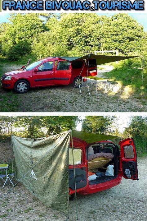 France Bivouac et Tourisme, Dacia Logan Break camping car. Aménagement intérieur pour dormir et camper en toute liberté. camping