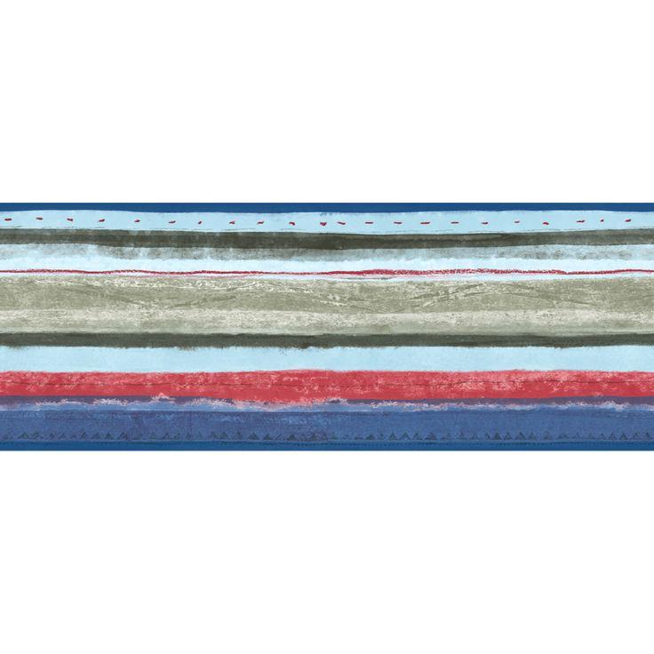 "Shop Sanitas 67/8"" Multicolor Stripe Prepasted Wallpaper"
