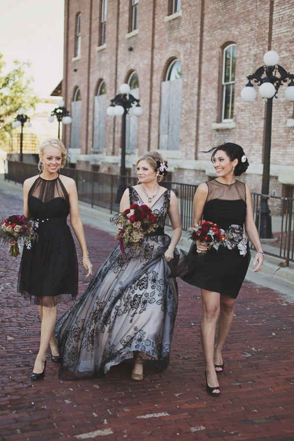 19 Beautiful Brides Who Wore Black On Their Big Day
